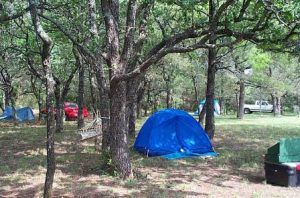 Tenting area